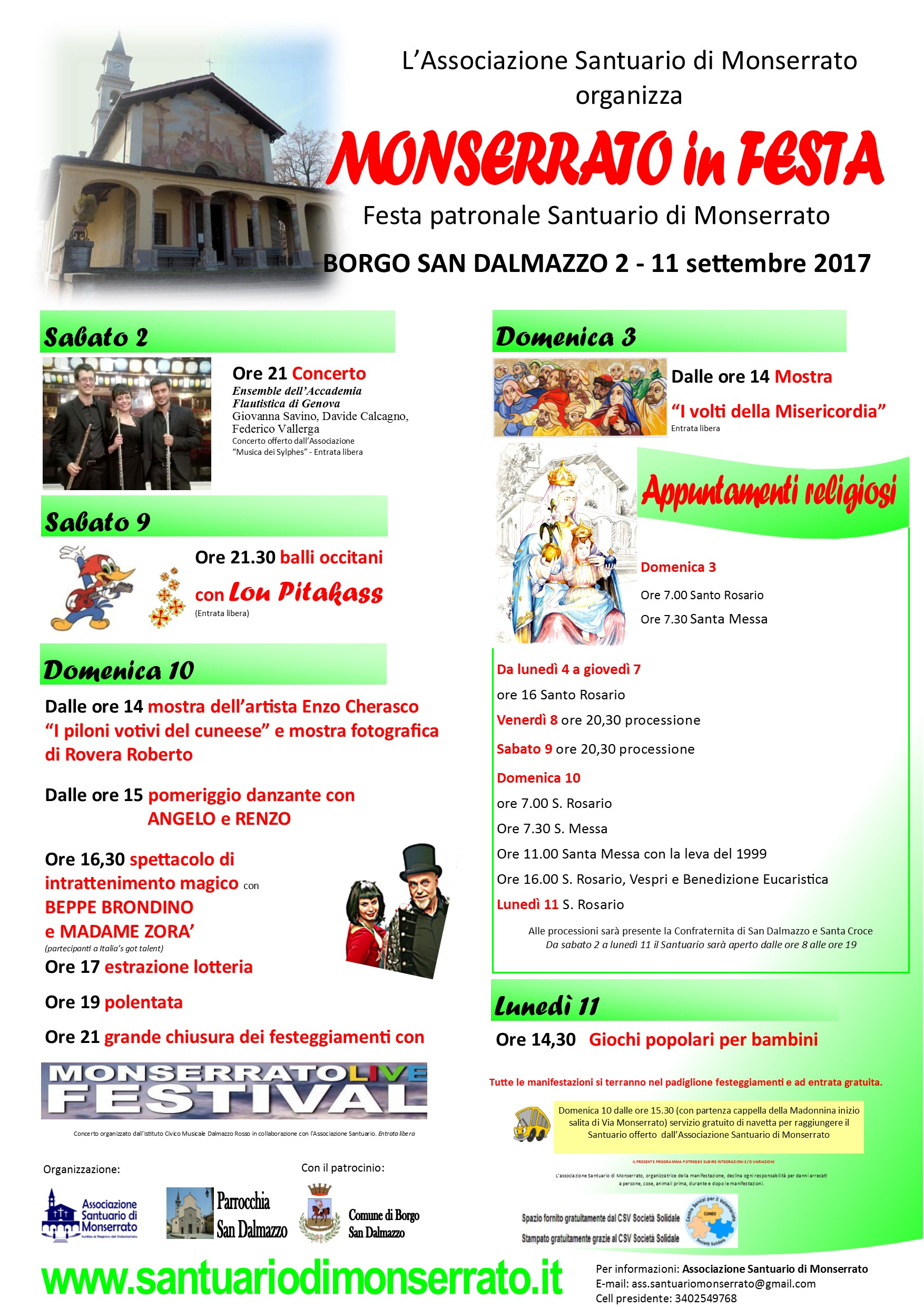 Manifesto Monserrato in festa 2017